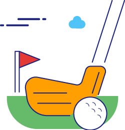 Golf clubs advertising